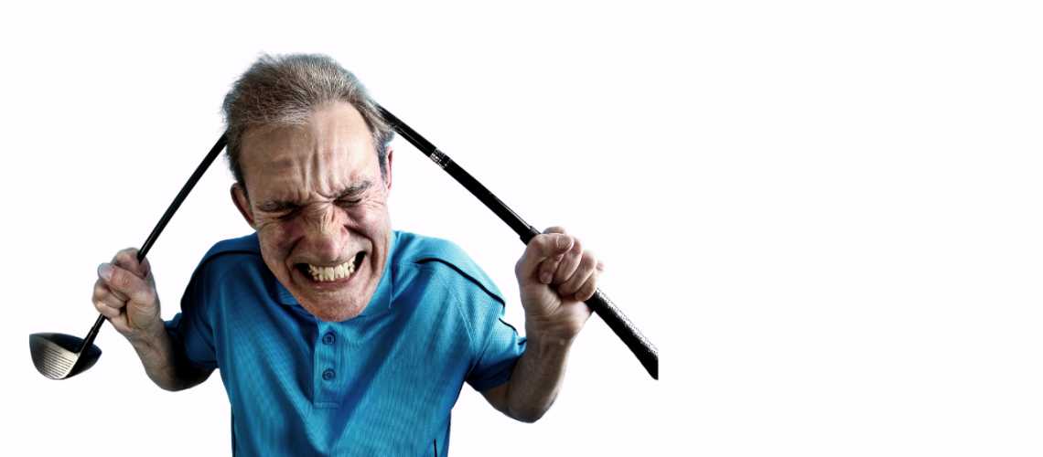Anger on the golf course
